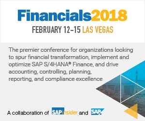sap financials las vegas 2018