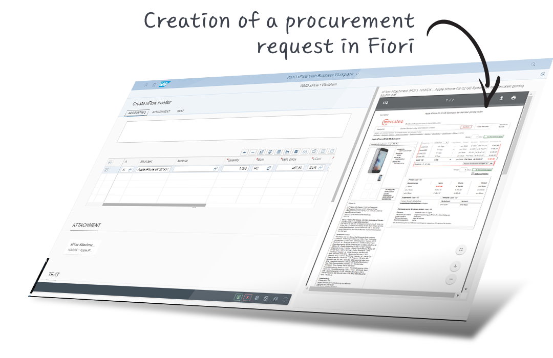procurement request sap