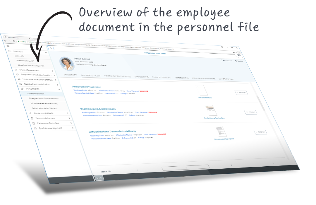 overview personnel file