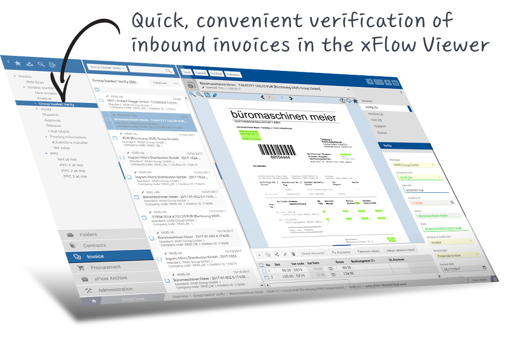 verification of inbound invoices