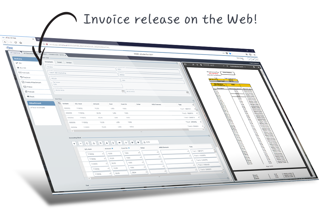 Digital invoice management within SAP